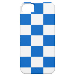 Blue and White Checkerboards Barely There iPhone 5 Case