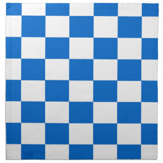 Blue and White Checkerboards Napkin
