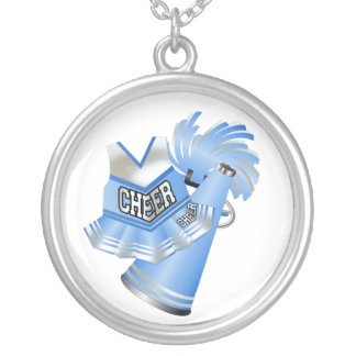 Blue and White Cheerleader Necklace