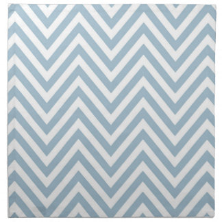 Blue and White Chevron Cloth Napkins(Set of 4) Printed Napkin