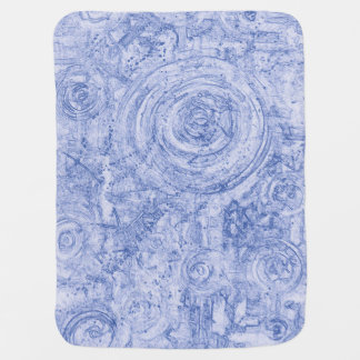 Blue and White Circles Baby Blanket