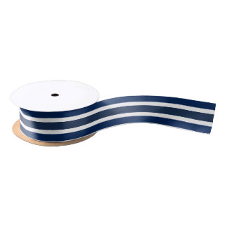 Blue and white colour ribbon satin ribbon