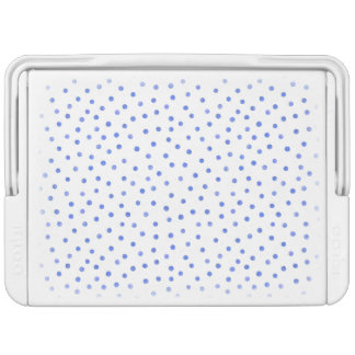 Blue and White Confetti Dots Pattern Cooler