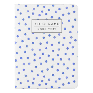 Blue and White Confetti Dots Pattern Extra Large Moleskine Notebook
