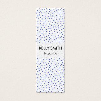 Blue and White Confetti Dots Pattern Mini Business Card