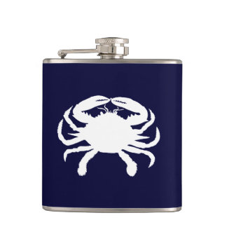 Blue and White Crab Shape Flasks
