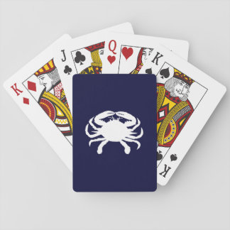 Blue and White Crab Shape Playing Cards