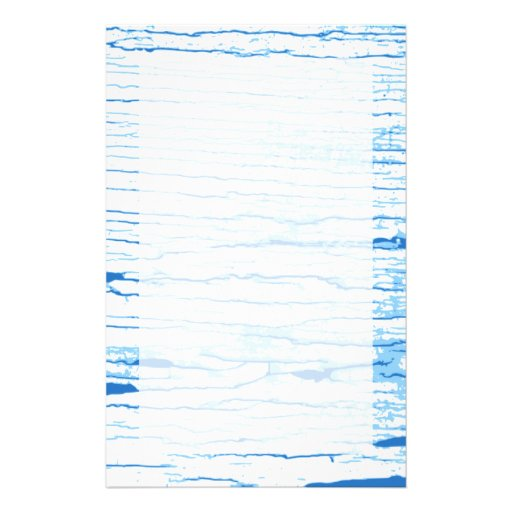 Blue and White Cracked Paint Style Graphic. Customized Stationery