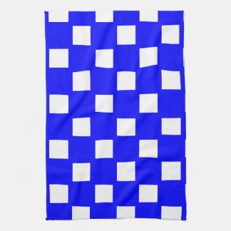 Blue and White Custom Checkered Kitchen Towel