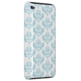 Blue and White Damask Pattern iPod Touch Case-Mate Case