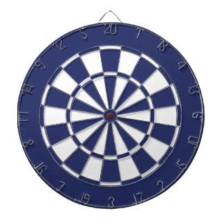 Blue and White Dartboard