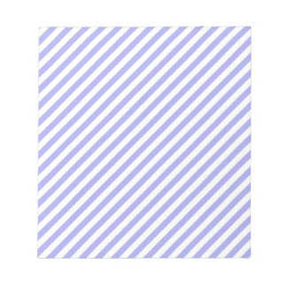 Blue and White Diagonal Stripes Memo Notepads