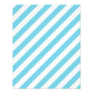 Blue and White Diagonal Stripes Pattern Flyer