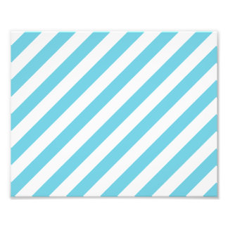 Blue and White Diagonal Stripes Pattern Photo