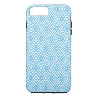Blue and White Diamond Pattern iPhone 8 Plus/7 Plus Case