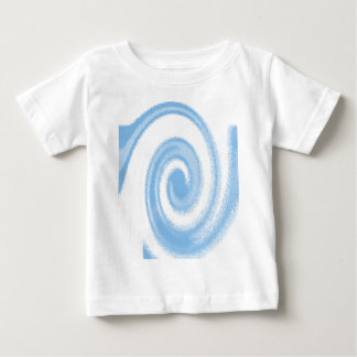 Blue and White Digital Graphic Spiral Wave Baby T-Shirt