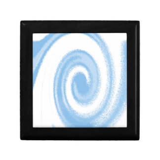 Blue and White Digital Graphic Spiral Wave Gift Box