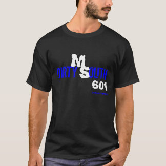BLUE AND WHITE DIRTY SOUTH T-Shirt