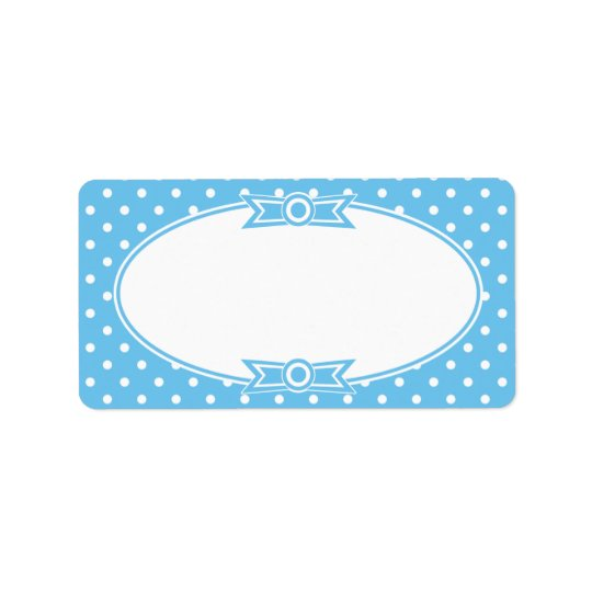 Blue and White Dots Canning Label Address Label