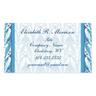 Blue and White Doves Business Card Templates