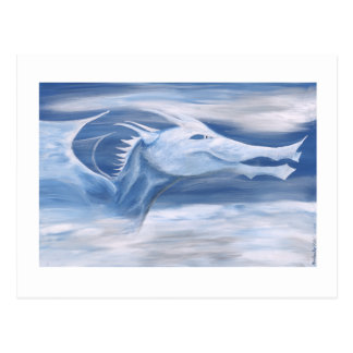 Blue and White Dragon Postcard