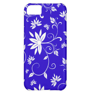 Blue and White Floral iPhone 5C Case