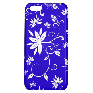 Blue and White Floral iPhone 5C Cases