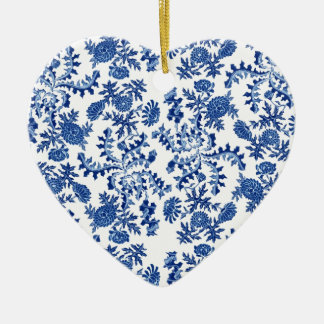 Blue and White Floral Ornament