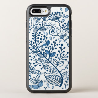 Blue and White Floral OtterBox Symmetry iPhone 7 Plus Case