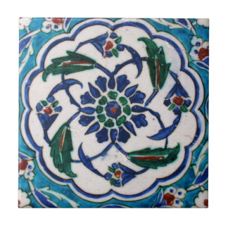 Blue and white floral Ottoman era tile design