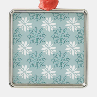 Blue and White Floral Pattern Ornaments
