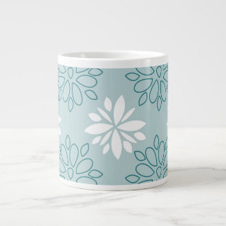 Blue and White Floral Pattern Jumbo Mug