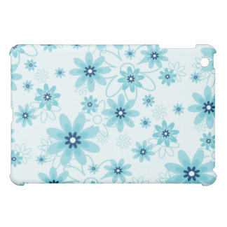 Blue and White Flower Pern  iPad Mini Cover