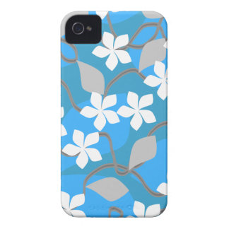 Blue and White Flowers. Floral Pattern. iPhone 4 Case