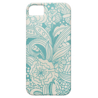 Blue and White Flowers iPhone 5/5S Case