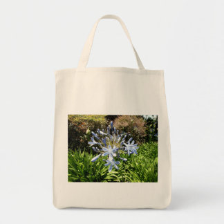 Blue And White Flowers Tote Bags