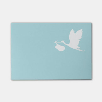 Blue and White Flying Stork Post-it® Notes