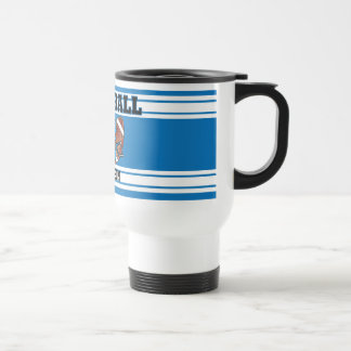 Blue and White Football Stainless Steel Travel Mug