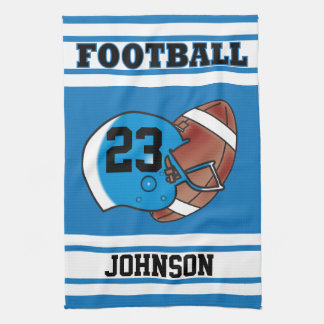 Blue and White Football Kitchen Towels
