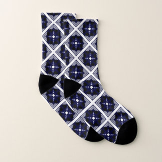 Blue And White Geometric Pattern 1