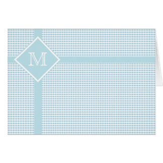 Blue and White Gingham Check Greeting Card