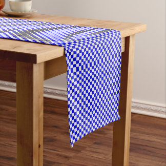 Blue And White Gingham Checkered