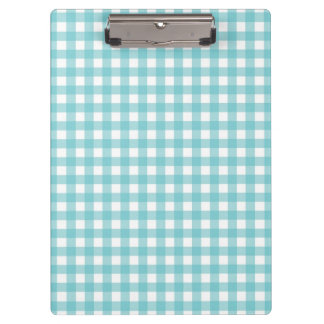 Blue and White Gingham Design Clipboard