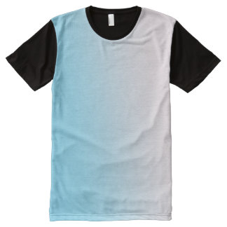 Blue and White Gradient All-Over Print T-Shirt