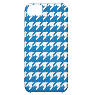 Blue and white houndstooth pattern iPhone 5C case