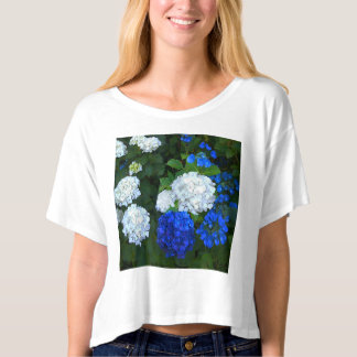Blue and white Hydrangeas. T-Shirt