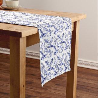 Blue and white Koi Short Table Runner