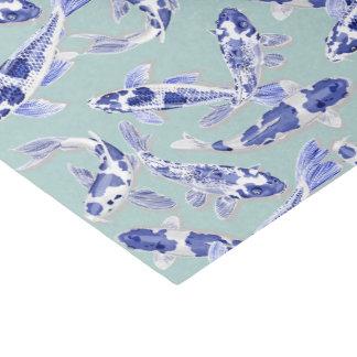 Blue and white Koi Tissue Paper