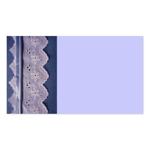 blue and white lace business card template