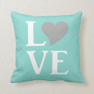 Blue And White Love Party Celebration Throw Pillow